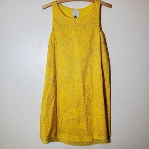 HD in Paris Anthropologie yellow cotton dress